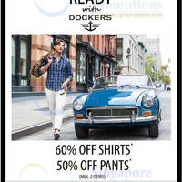 Read more about Dockers 60% OFF Shirts & 50% OFF Pants Promo 24 Feb 2014