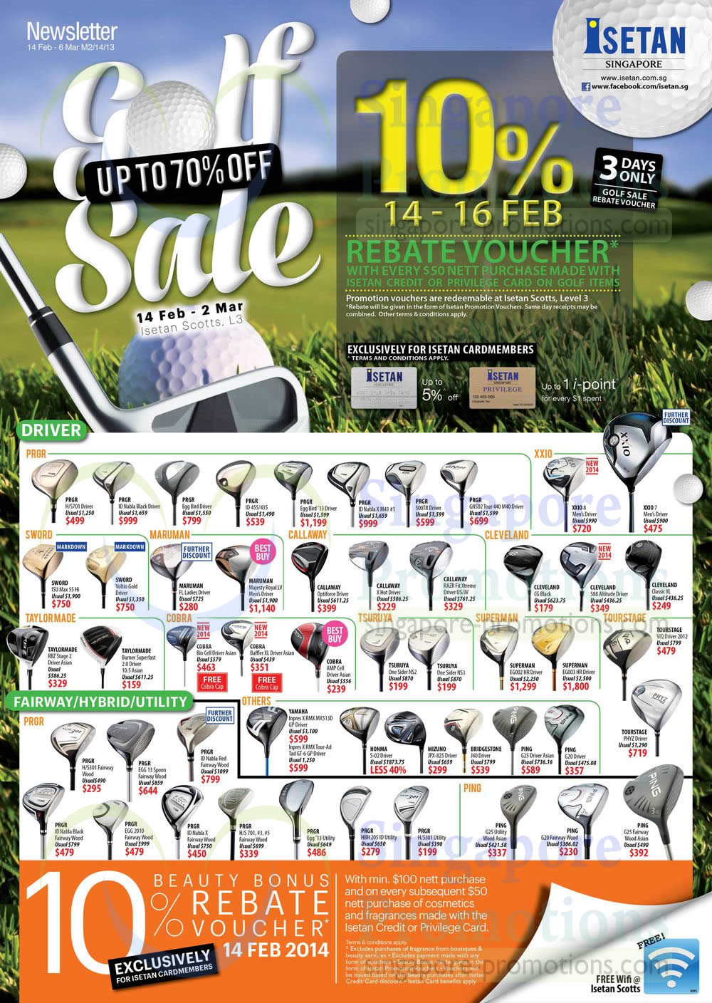Driver, Fairway, Hybrid, Utility, Cardmember 10 Percent Off