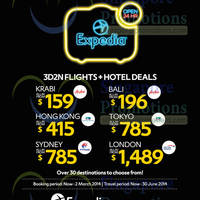 Read more about Expedia From $159 3D2N + Hotels Offers 18 Feb - 2 Mar 2014
