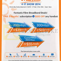 Read more about M1 IT SHOW 2014 Smartphones, Tablets & Home/Mobile Broadband Offers 27 Feb - 2 Mar 2014