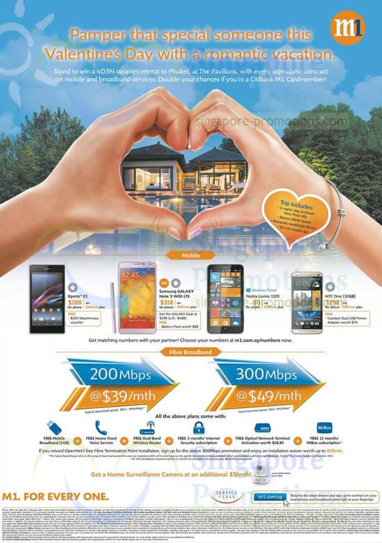Fibre Broadband Plans, Sony Xperia Z1, Samsung Galaxy Note 3, Nokia Lumia 1320, HTC One 32GB