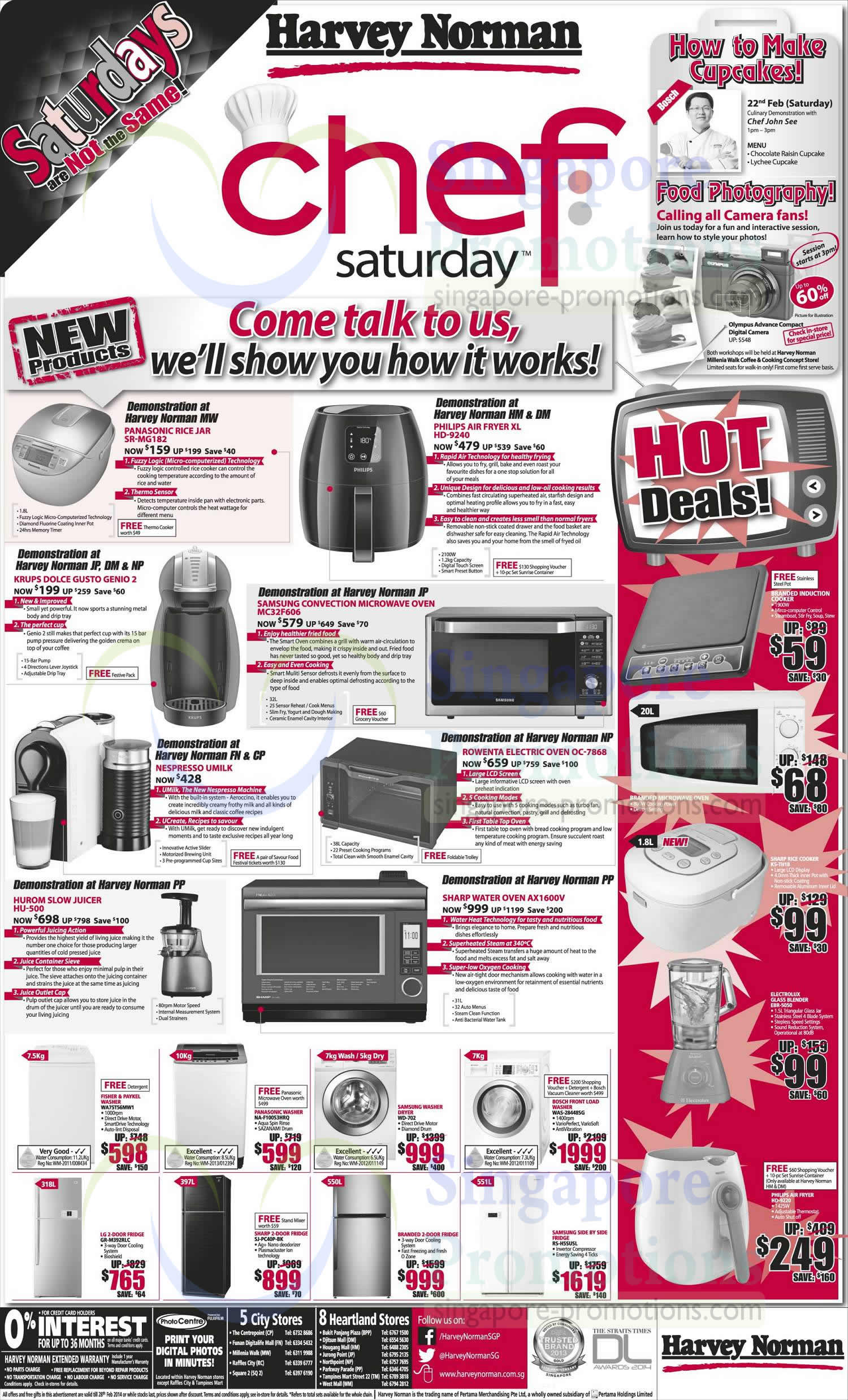 Kitchen Electronics, Air Fryer, Coffee Machines, Rice Cooker, Ovens, Washers, Fridges Harvey ...