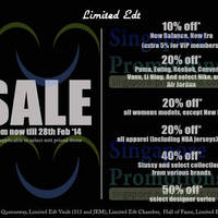 Read more about Limited Edt Up To 50% OFF SALE @ All Outlets 23 - 28 Feb 2014