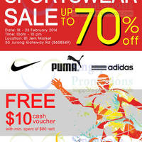 Read more about Branded Sportswear Up To 70% OFF Sale @ Jem 18 - 23 Feb 2014