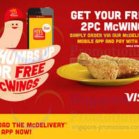 Read more about McDonald's McDelivery FREE 2pc McWings With Visa Payment & Via App Order 17 Feb - 20 Apr 2014