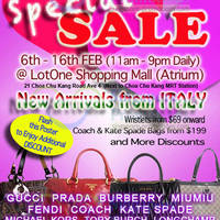 Read more about MyBagEmpire Branded Handbags & Accessories Sale @ Lot 1 6 - 16 Feb 2014