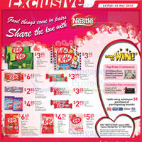Read more about Nestle Kit Kat & Wonka Chocolates Offers @ NTUC Fairprice 14 Feb - 31 Mar 2014