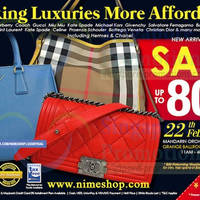 Read more about Nimeshop Branded Handbags Sale Up To 80% Off @ Mandarin Orchard 22 Feb 2014