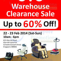 Read more about OTO Up To 60% OFF Warehouse Clearance Sale 22 - 23 Feb 2014