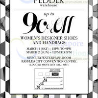 Read more about Pedder Warehouse SALE @ Raffles City Convention Centre 1 - 2 Mar 2014