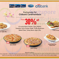 Read more about Pizza Hut 30% OFF Selected Items For Citibank Cardmembers 19 Feb - 18 Mar 2014