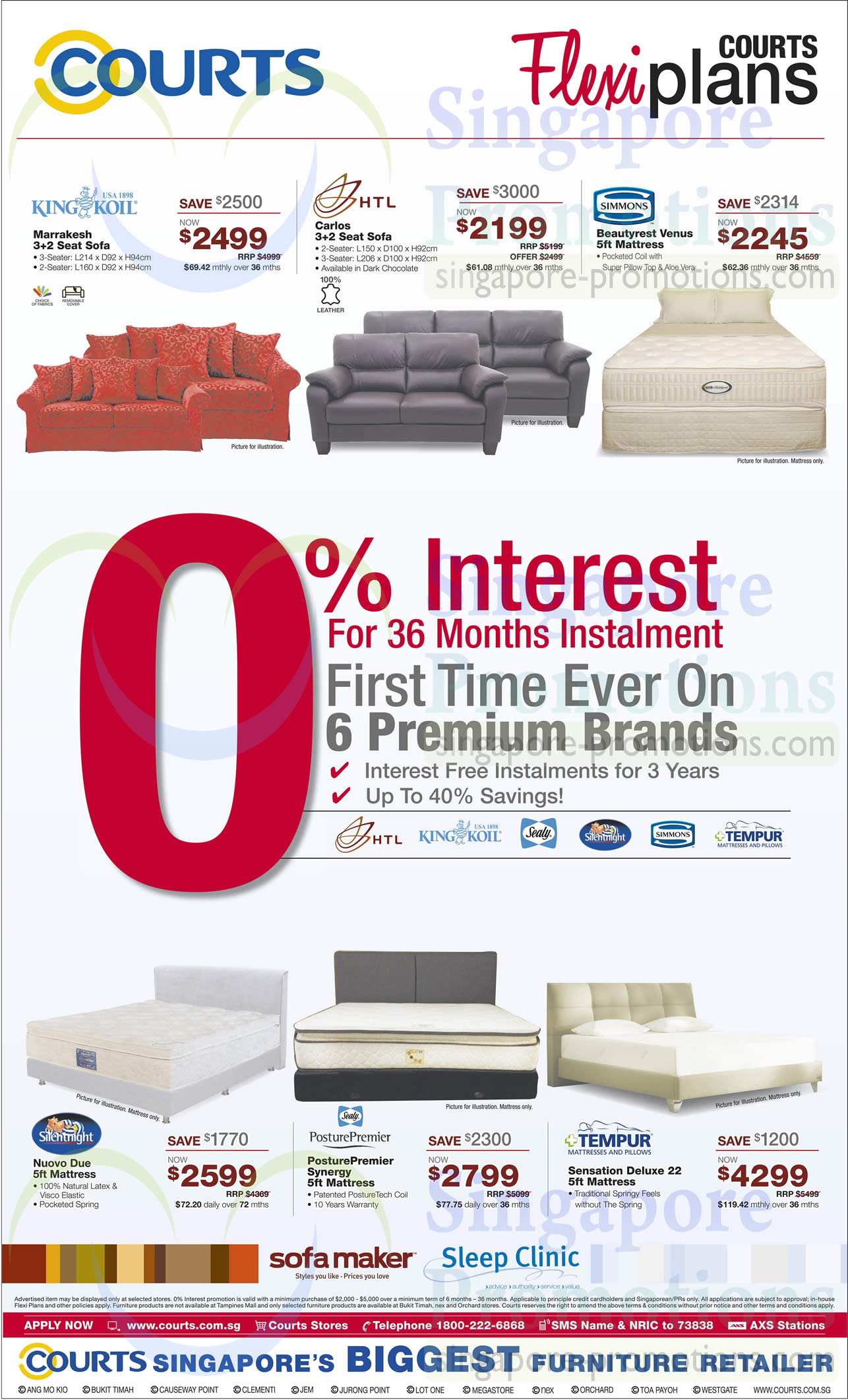 sofa sets mattresses king koil htl simmons silentnight sealy tempur courts biggest. Black Bedroom Furniture Sets. Home Design Ideas