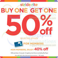 Read more about Stride Rite Buy 1 Get 40% OFF Selected Styles Promo @ Selected Outlets 17 Feb - 16 Mar 2014
