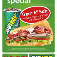 Read more about Subway Buy 1 Get 1 FREE (BOGO) Sub Promotion @ Republic Plaza 21 Feb 2014