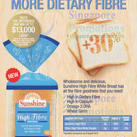 Read more about Sunshine NEW High Fibre White Bread 14 Feb 2014