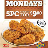 Read more about Texas Chicken $9 5pc Chicken Mondays Promo 17 Feb - 17 Mar 2014