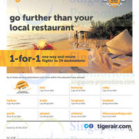Read more about Tigerair 1 For 1 Promo Air Fares To 34 Destinations 10 - 16 Feb 2014