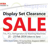 Read more about Toshiba Display Set Clearance SALE @ Cellini Home Gallery 21 - 23 Feb 2014