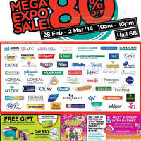 Read more about Watsons Up To 80% OFF Mega Expo SALE @ Singapore Expo 28 Feb - 2 Mar 2014