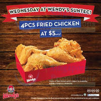 Read more about Wendy's $5 4pcs Fried Chicken Promo Offer @ Suntec 12 Feb 2014