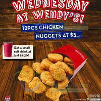 Read more about Wendy's $5 12pcs Chicken Nuggets Promo 30 Apr 2014