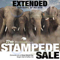 Read more about BritishIndia Stampede SALE 21 - 30 Mar 2014