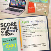 Read more about Acer Aspire V5 Notebooks Students Offer 20 - 30 Mar 2014