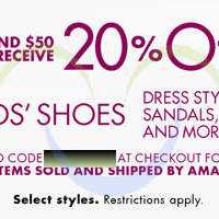 Read more about Amazon.com 20% OFF Kids' Shoes, Dress Styles, Sandals & More Coupon Code 29 Mar - 14 Apr 2014