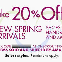 Read more about Amazon.com 20% OFF New Fashion Spring Arrivals Coupon Code 5 - 17 Mar 2014