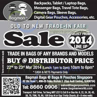 Read more about Bagman Bags Old to New Trade-In Fair @ Oxley Bizhub 22 - 23 Mar 2014