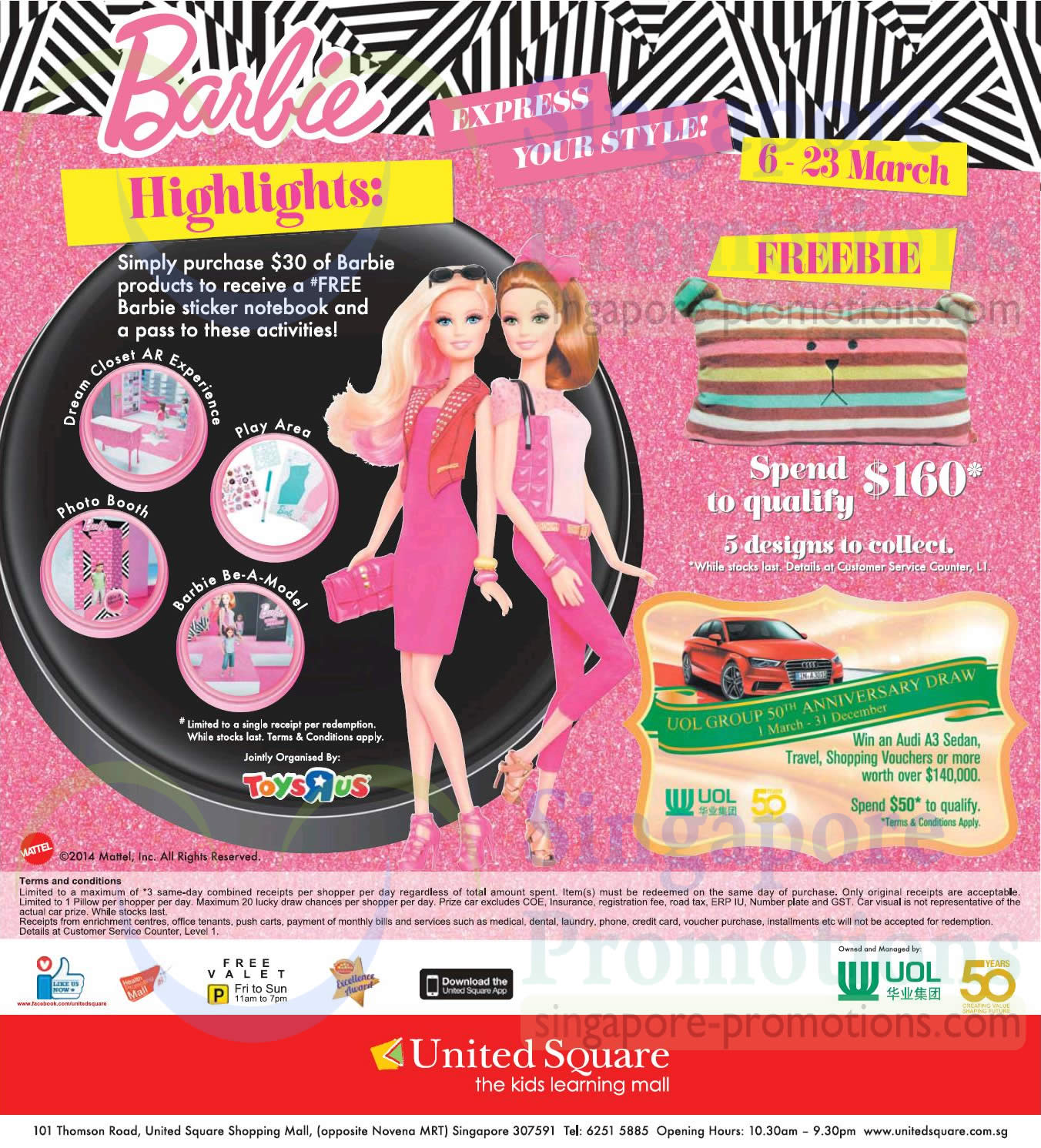 Barbie Highlights, Freebie, UOL Group 50th Anniversary Draw