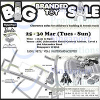 Read more about Big Branded Toy SALE @ Alexandra Retail Centre 25 - 30 Mar 2014