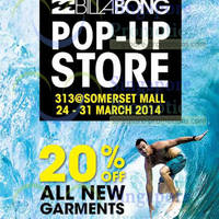 Read more about Billabong Pop-Up Store 20% OFF All Garments @ 313Somerset 24 - 31 Mar 2014