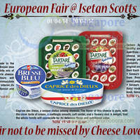 Read more about Bongrain European Cheese Fair @ Isetan Scotts 1 - 30 Apr 2014