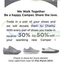Read more about Camper Trade-In Old Shoes & Get 30% - 50% OFF New Shoes Promo 21 - 31 Mar 2014