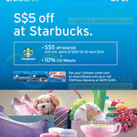 Read more about Starbucks $5 OFF For Citibank Cardmembers Promo 14 Mar - 30 Apr 2014