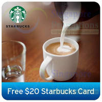Read more about Starbucks FREE $20 Card For Citibank Cardmembers 28 Mar - 30 Apr 2014