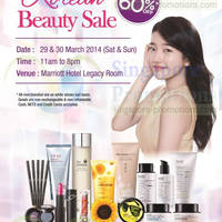 Read more about Branded Up To 60% OFF Korean Beauty SALE @ Marriott Hotel 29 - 30 Mar 2014