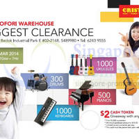 Read more about Cristofori Warehouse SALE @ Bedok 14 - 23 Mar 2014
