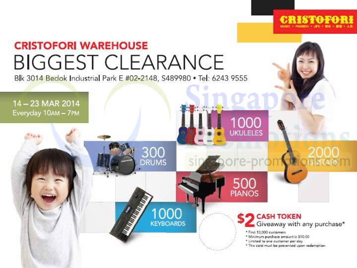 Cristofor Biggest Clearance 10 Mar 2014
