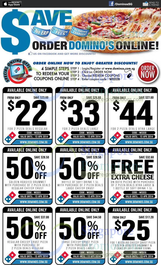Dominos discount coupons delivery
