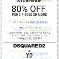 Read more about Dsquared2 & Y-3 70% OFF SALE 20 - 23 Mar 2014