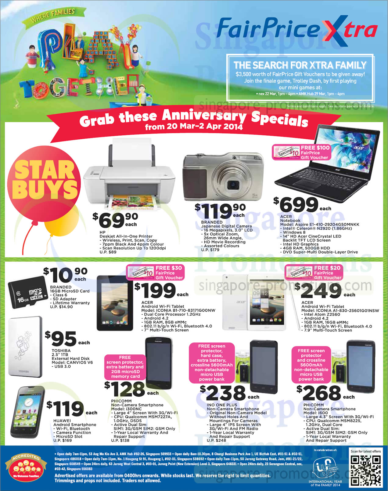 Electronics Mobile Phones, External Hard Disk, Notebook, Tablet, Digital Camera, Acer, HP, Phicomm, Toshiba, Huawei