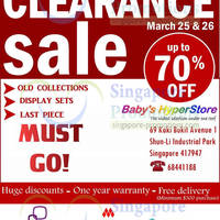 Read more about Baby Hyperstore Clearance SALE @ Shun Li Industrial Park 25 - 26 Mar 2014