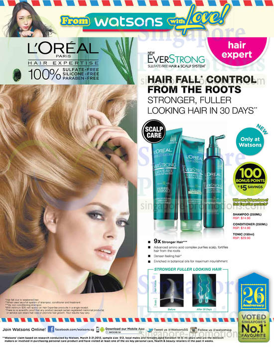 Loreal Everstrong Shampoo, Loreal Everstrong Conditioner, Loreal Everstrong Tonic
