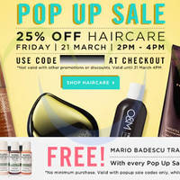 Read more about Luxola 25% OFF All Haircare Products (NO Min Spend) 2Hr Coupon Code 21 Mar 2014