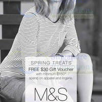 Read more about Marks & Spencer FREE $30 Gift Voucher Promo 20 - 30 Mar 2014