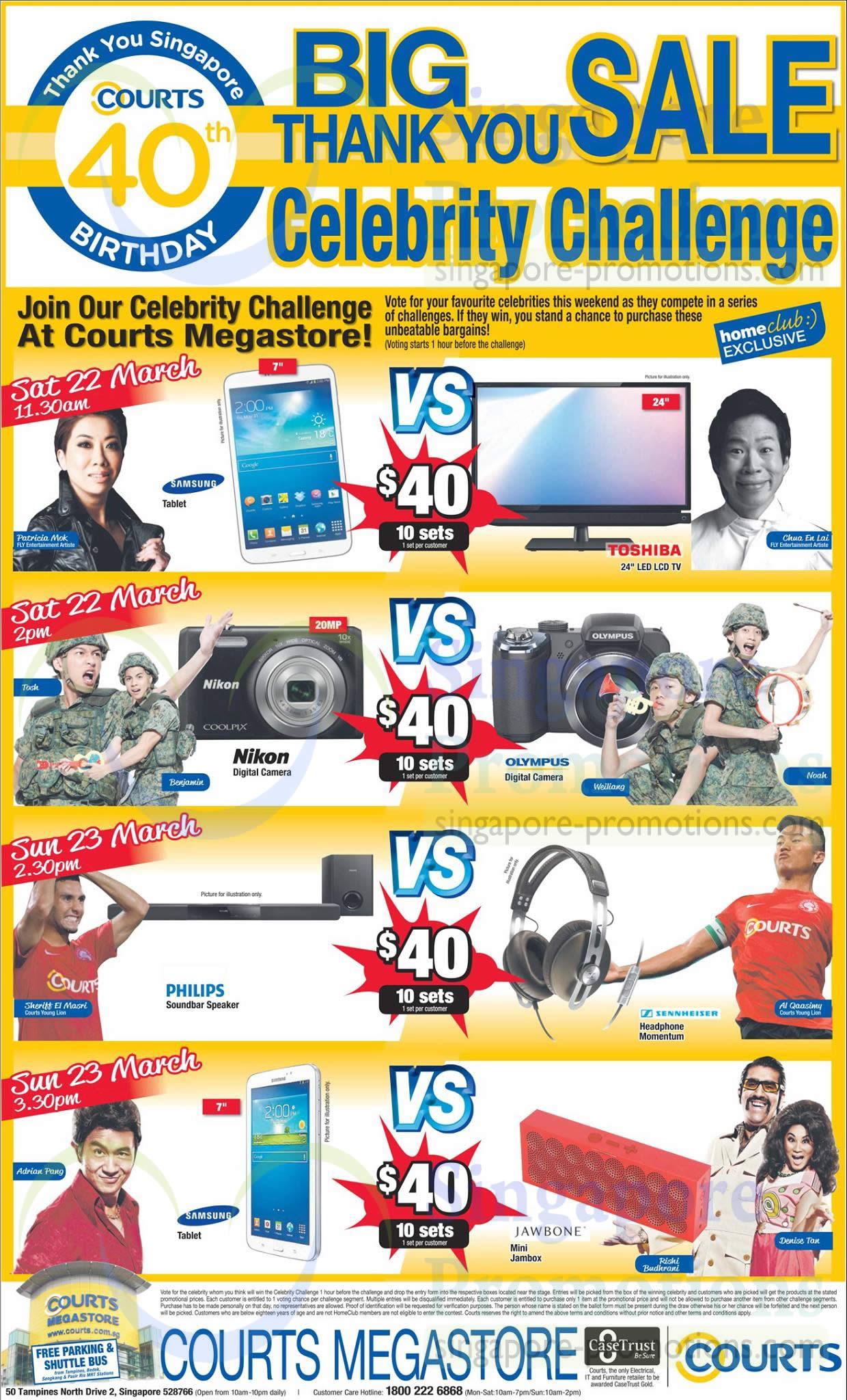 Megastore Celebrity Challenges