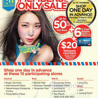 Read more about Watsons Up To 50% OFF SALE For DBS/POSB Credit/Debit & Watsons Members 4 Mar 2014