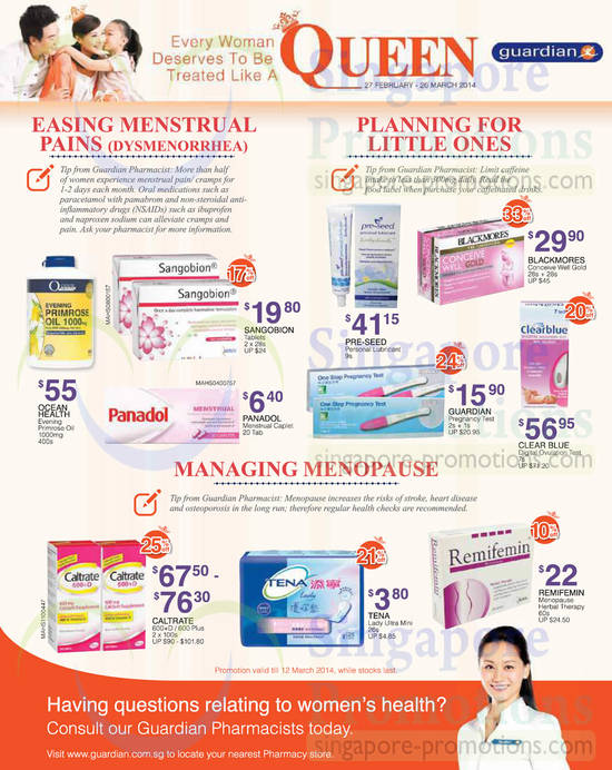 Menstrual Pain Care, Menopause Care, Conceiving Care